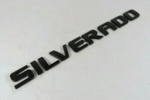 Chevy Silverado Emblem 07 19 Door Tailgate Black Badge Sign Symbol Logo Letters