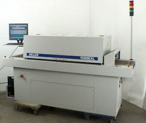Heller 1088 Exl Reflow Oven Smt Pcb 18 Mesh Conveyor 93 Length With Pc