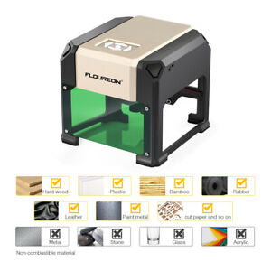 Floureon K4 3000mw Laser Engraver Engraving Machine Diy Printing Cutting Printer