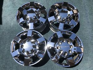 Set Of 4 18 Gmc Sierra Chevy 2500 3500 Hd Oem Factory Wheels Rim Chrome Denali