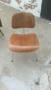 Eames Herman Miller Dcm Chair Mid Century Walnut Usa Sales Only