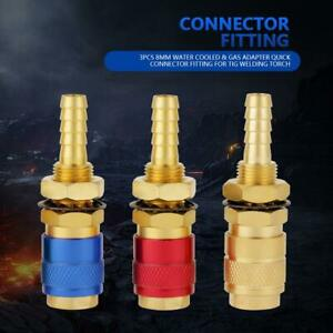Water Cooled Gas Adapter Quick Hose Fitting Connector For Tig Mig Welder Torch