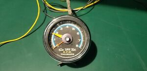 Vtg Sun Super Tach Thousands R P M Blue Line Model Sst 801 W Cup