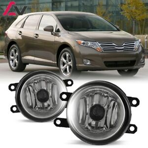 For Toyota Venza 09 15 Clear Lens Pair Bumper Fog Light Lamp Replacement