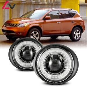 For Nissan Murano 03 05 Clear Lens Pair Bumper Fog Light Lamp Halo Projector Dot