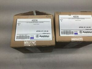 New In Box Lot Of 2 Appleton 1 1 2 Aluminum Powertite Boxes Aee56