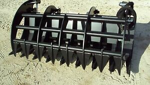 72 Brush Root Rake Grapple For Skid Steer Tractors