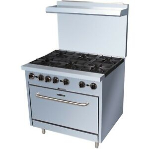 Commercial Kitchen 6 Burner Gas Range Natural Gas 36 With Oven