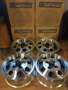 Set Of 4 Nos Carroll Shelby 14x6 Aluminum Wheels W center Caps Original Boxes