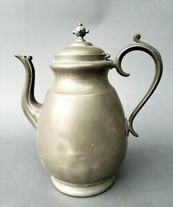 Antique Pewter Over Copper Coffee Pot