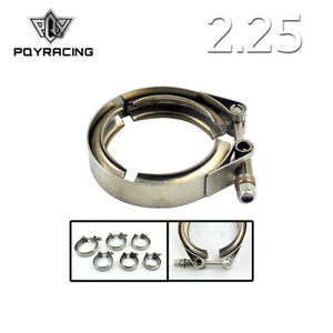 2 25 Inch Stainless Steel 304 V Band Clamp W O Flange Turbo Exhaust Down Pipe