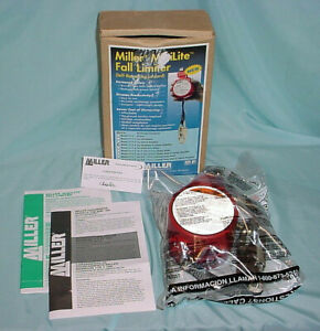 Miller Minilite Fl11 3 Fall Limiter Self Retracting Safety Lanyard New 11 Ft