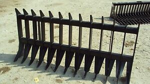 72 Heavy Duty Root Brush Rock Rake For Skid Steers