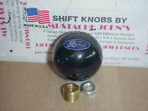 Ford Oval Logo 2 Licenced Ford Shift Knob black Pearl
