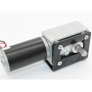 High Torque Dc Worm Geared Motor With Gear Reduction Turbo Motor 12v 12rpm