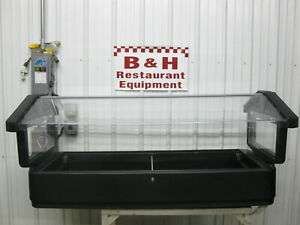 Cambro 5 Black Table Top Food Salad Cold Bar Buffet Table W Sneeze Guard 64