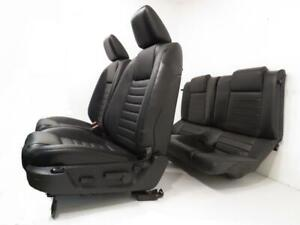 Ford Mustang Seats Gt Black Leather Front Rear Seats 2005 2006 2007 2008 2009