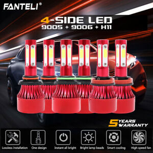 9005 9006 h11 Led Headlight Hi low Beam Bulb 6000k Fog Light Kits 6600w 990000lm