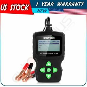 6v 12v 18v Vehicle Car Digital Battery Test Analyzer Diagnostic Tool Iec En Sae