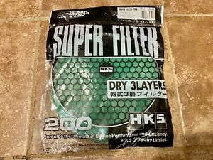 New Hks Super Power Flow Dry 3 Layer Element Replacement Intake Air Filter 200mm