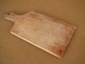 Old Vintage Wooden Bread Board Plate Tray Scoop Plank Trencher Rustic Farm Style