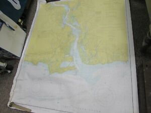 Vintage Navigational Chart Connecticut Long Island Sound 35 X 42 18
