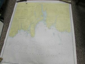 Vintage Navigational Chart Connecticut North Shore Of Long Island 31 X 33 14
