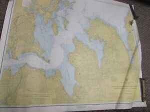 Vintage Navigational Chart New York Long Island Sound East River 36 X 39 16