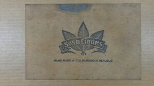 Vintage Finger Jointed Box Sosa Cigar Box For Governor Cigars Branded Markings