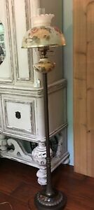 Vintage Floor Lamp Victorian Style Matching Font And Shade Excellent