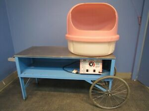 Gold Medal Floss Boss Cotton Candy Machine Wagon Pink Double Bubble