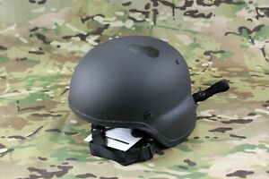 BLACKHAWK! Large ACH Black Full Cut MICH Ballistic Helmet w Pads
