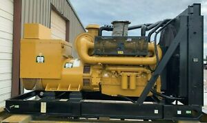 Caterpillar Generator Set C18 545kw 600kw 2007 Sr4b Tested Panel
