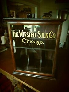 Antique Winsted Silk Store Or Mercantile Display Cabinet Chicago 1920
