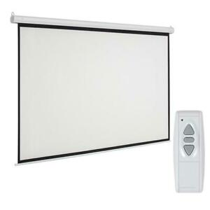 Leadzm 92 Inch 16 9 Electric Motorized Projector Projection Screen Us Plug Ss6