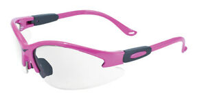 Global Vision Cougar Hot Pink Anti Fog Clear Lens Womens Safety Glasses Z87
