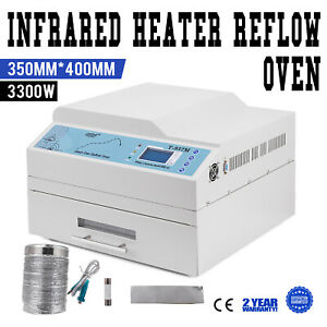 T937m Lead free Infrared Reflow Oven 2 16min Drawer Type Max 350 Great