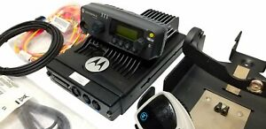 Motorola Pm1500 Vhf 110w Remote Mount Mobile Radio Mdc Quick Call Aam79ktd9pw5an