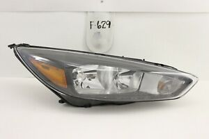 Used Oem Head Light Headlight Lamp Headlamp Ford Focus 15 19 Black Chip Mount
