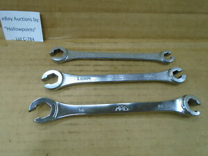 C784 Mac Tools 3 Asst Metric Flare Nut Wrench Set 9 10 11 12 13 14mm Dual End