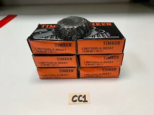 Timken Lm67000la 902a1 Tapered Roller Bearings 1 25 X 0 66 lot Of 6 new