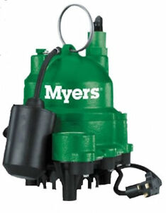 Myers Pentair Mdc50p1 Submersible Cast Iron Automatic 1 2 Hp Sump Effluent Pump