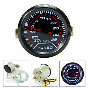 52mm Led Turbo Boost Press Pressure Vacuum Gauge Meter Psi Smoke Face Tint V3g2n