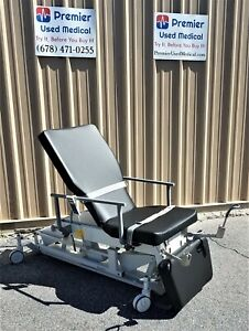 Biodex Ultrasound Pro Table W New Black Upholstery Hand Control Stirrups