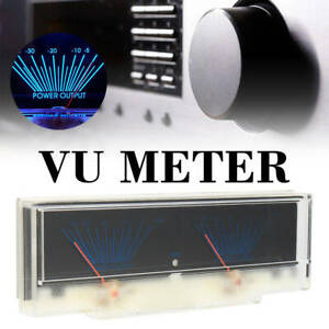 Indicator Dual Analog Vu Meter Audio Level Db Meter With Backlit Light New