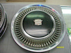 4 Vintage Cadillac Hubcap From The 1970 S 15 15inch