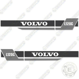 Volvo L120c Decal Kit Large Wheel Loader Equipment Decals