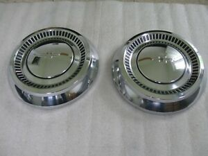 1964 Chevy Dog Dish Hubcaps Wheel Covers Biscayne Impala 409 Bel Air Super Sport