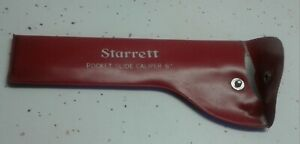 Starrett 6 Pocket Slide Caliper With Case 425