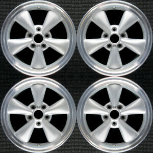 Set 2005 2006 2007 2008 2009 Ford Mustang Oem 17 Silver Spokes Wheels Rims 3589